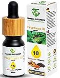 GLOBAL NATUREON PREMIUM L 10 (10 ml) Tropfen mit Hanfsamenl I Natur-Komplex Terpene plus Curcumin und Piperin I 127 x hhere Bioverfgbarkeit I Naturprodukt mit Zertifikat