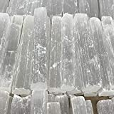 """5 lbs, 4.6"""" - 4.7"""" 32-37 Pieces, Natural Rough Solid Selenite Crystal Blade Sticks, Wands, Selenite Logs Gemstones, Wholesale Price"""