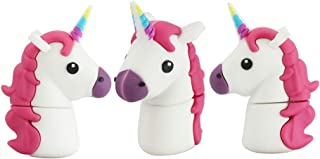 16GB Unicorn Modelo USB 2.0 Flash Drive de Memoria Grueso Pulgar u Disco Palos de Almacenamiento de Datos USB Flash Drive USB Stick Memory Stick USB Flash Disk (White)
