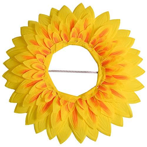 Sonnenblume Kopfbedeckung,lustige Leistung Requisiten Hut für Dance Party Festival Games Kids Teens Erwachsene