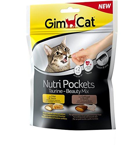 GimCat Nutri Pockets – Snack crujiente para gatos: provisto de relleno...