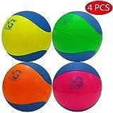 Macro Giant発泡ソフトカラフルバスケットボール 15cm (直径) 4入 蛍光色 キッドボール 練習