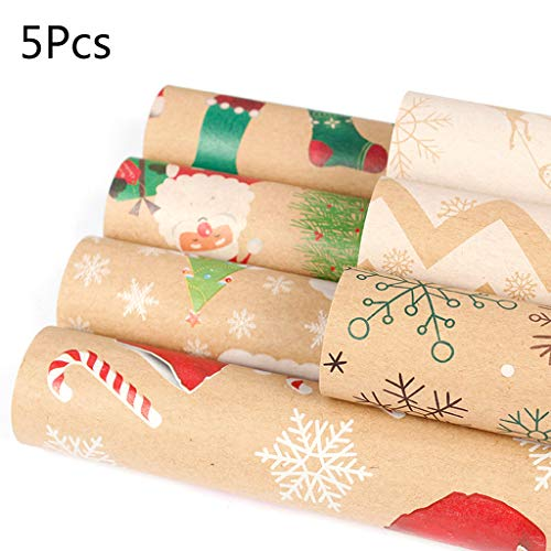 Paquete de papel de regalo para regalo de cumpleaños, boda, bautizo, rollos, 50 x 70 cm