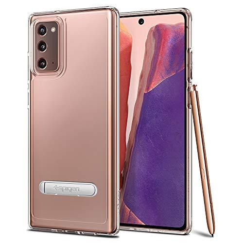 Spigen Ultra Hybrid S Kompatibel mit Samsung Galaxy Note 20 Hülle, Transparente PC Rückschale mit Silikon TPU Handyhülle Standfunktion Case Crystal Clear ACS01421