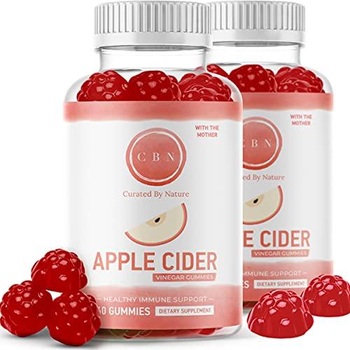 (2-Pack) Nutritional Apple Cider Vinegar Gummies, Immunity...