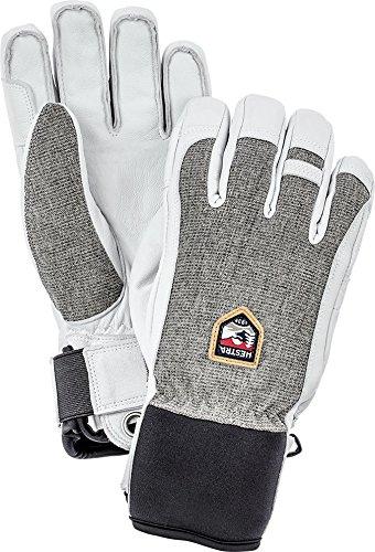 Hestra Ski-Handschuhe, Leder, für kalte Wetterverhältnisse, Unisex Herren, hellgrau, 9