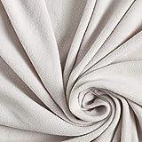 Fabulous Fabrics Fleece hellgrau, Uni, 155cm breit –
