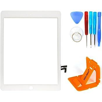 SKILIWAH® ipad5 Ipad air交換修理用 タッチパネル(フロントガラスデジタイザ)タッチスクリーン 取り付けテープ付属 ツール付き 修理パーツ部品 ホワイト