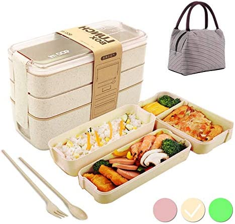 Bento Box Japanese Lunch Box with Dividers 900 ml Leakproof Eco lunchbox for Kids and Adults product image
