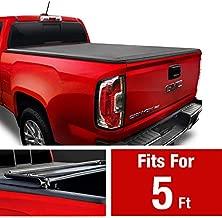 MaxMate Soft Tri-Fold Truck Bed Tonneau Cover for 2015-2020 Chevy Colorado/GMC Canyon | Fleetside 5'2