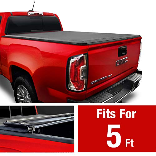 "MaxMate Soft Tri-Fold Truck Bed Tonneau Cover for 2015-2020 Chevy Colorado/GMC Canyon | Fleetside 5'2"" Bed"