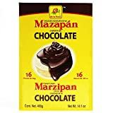 CHOCOLATE COVERED MARZIPAN 16 pieces Peanut Candy Marzipan Style Chocolate Covered Mexican Candy. 400g Box