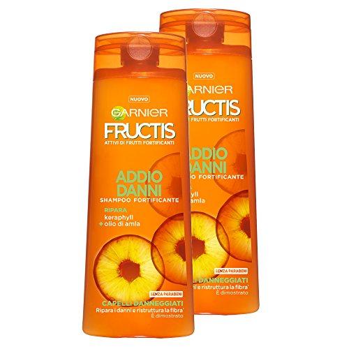 Garnier Fructis Shampoo keine Schäden für beschädigte Haar mit karaphyll und Öl von Amla, ohne Parabene, 250ml–3Packungen von 2Einheiten
