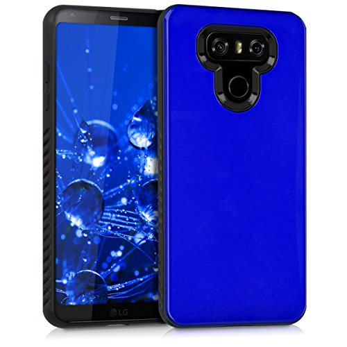 kwmobile Funda Compatible con LG G6 - Carcasa Protectora de TPU - Cover Trasero en Azul Brillante