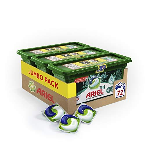 Ariel 3-in-1 Pods + Frische Unstoppables Waschmittel – 72 Waschgänge (3 x 24 Kapseln)