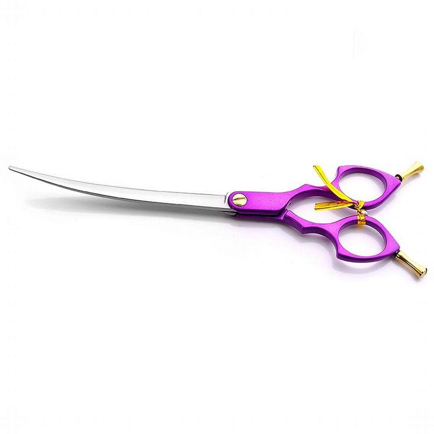 仕立て屋敷居オーガニックJiabei 理髪用フラットはさみ、ステンレス鋼理髪はさみはさみ (色 : 紫の)