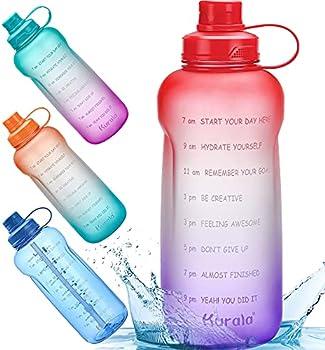 Kurala Half Gallon/64 oz Motivational Water Bottle