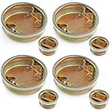 """Sanbege Drum Bung Plug, 2"""" and 3/4"""" Steel Bung Cap for 55 Gallon Barrels, Drums, Pack of 8"""