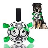 CS COSDDI Juguetes de fútbol para perros, juguete interactivo para perros, pelota de mascota con correas de recuperación para juegos de remolcador de entrenamiento y ejercicios de unión