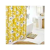MaxAst Sonnenblume Duschvorhang Anti Schimmel, Gelb Badewanne Vorhang 200x240CM, Antibakteriell Wasserdicht mit Kunststoff Ringe Kein Rost