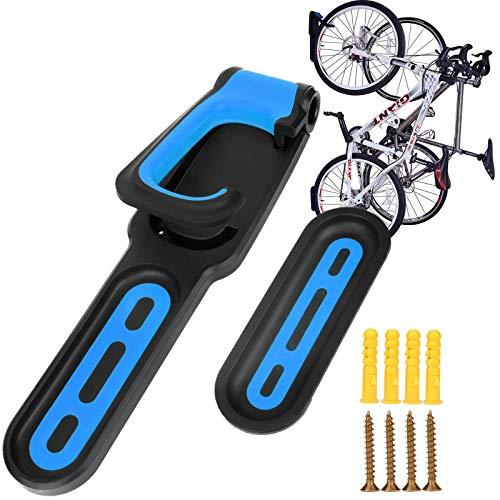 hengguang Soporte Vertical para Bicicleta, Soporte para Bicicleta, Montaje En Pared, Sistema De Almacenamiento para Ciclismo, Soporte para Exhibición De Bicicleta para Bicicleta De Carretera MTB Azul