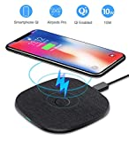 AGPTEK Caricatore Wireless Caricabatterie Wireless 10W/7.5W/5W per Samsung S20/11/10/9/9+/9+/8/7Edge /Note8/9/10/10+ iPhone 8/8Plus/X/XS/XR/11/11Pro Huawei Mate 20 Pro/P30 PRO/Mate 30/30Pro