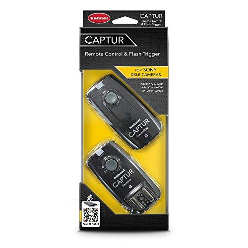 Hahnel HL -CAPTUR S Captur Remote Camera/Flash Trigger, Transmitter/Receiver for Sony, Black