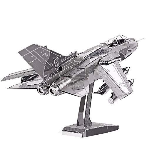 Piececool Metal Modello 3D Puzzles Tornado Fighter Jets-Metal - Modellino per risveglio