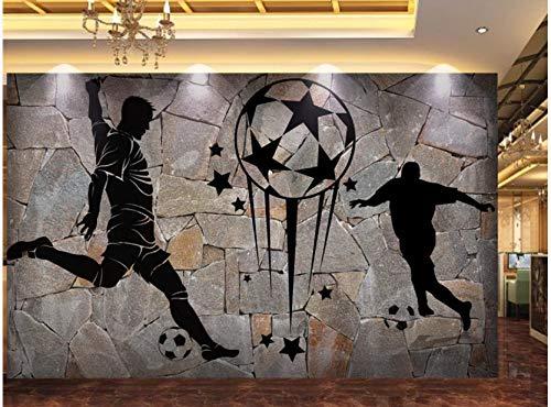 VVBIHUAING 3D Dekorationen Tapete Wand Wandbilder Aufkleber Fußballspieler Dekoration Home Wohnzimmer Hintergrund Landschaft Kunst Kinderküche (W) 250x(H) 175cm
