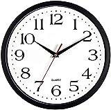 Bernhard Products Black Wall Clock Silent Non...