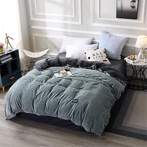 ZZTX 100% Cotton Down Duvet, Winter Warm Velvet Quilt Cover - Detachable Velvet Duvet,Gift Duvet (4,200 * 230cm - 4.2kg)