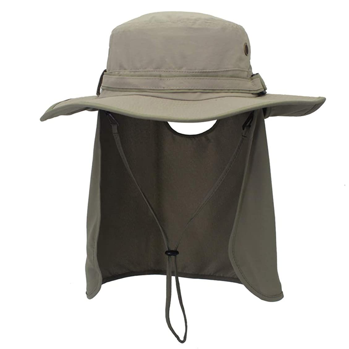 太陽の帽子男性女性UPF 50+夏の保護用ジャージUV保護外部フラップネックパッディング通気性釣り帽子ビーチ, Light Grey