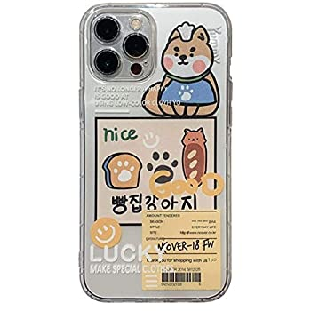 YLFC Cute Clear Cartoon Label Cat Korean Phone Case for iPhone 12 11 Pro Max Xr X Xs Max 7 8 Puls SE 2020 Cases Soft Silicone Cover  Color   A Size   for iPhone 11