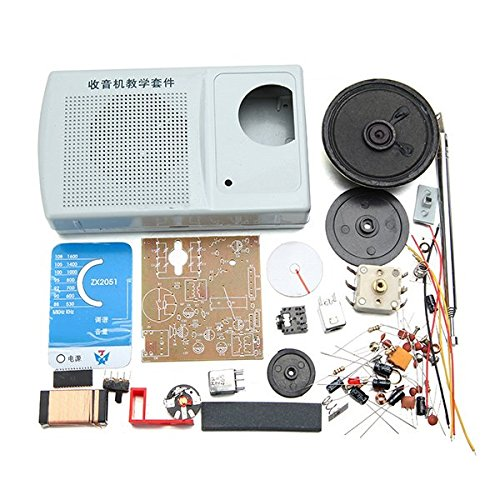 DIY ZX2051 Type IC FM AM Radio Kit Electroinc Learning Kit / DIY ZX2051 Type IC FM AM Radio Kit Electroinc Learning Kit . . . Power: 0.5W, 8O . . IC: CD1691CB . . Filter: 455KHz . . V
