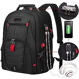 LOVEVOOK Sac à dos pour ordinateur portable 17 pouces – Sac à dos étanche – Grand avec cadenas et port de charge USB…