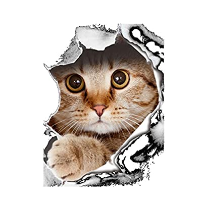 Floralby Cute Cat Dog Toilet Seat Cover Lid Sticker Bathroom Wall Laptop Art Decor Decal