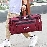 AGNN Grandi Capacità Borse da palestra Sport Uomini Fitness Gadget Yoga Palestra Pack Per l'Allenamento Viaggio Sporttas Rosso