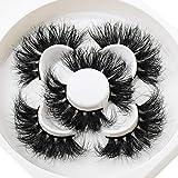 Lethot 25mm Mink Lashes 3D Mink Hair False Eyelashes High Volume False Eyelashes Handmade Eye Makeup Tools Fluffy 3D Mink Lashes Pack 09 (LT09)