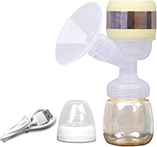 Breast Pump Electric Breast Pump, one-Piece, Lactation Massage Full Silicone Breast Pump, USB Rechargeable, with Adjustabl...