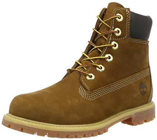 Timberland Womens 6-Inch Premium Rust Leather Boots 41 EU