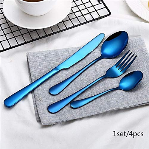 Best Buy! 2019 Wholesale 4Pcs/set Black Cutlery Set Box Packaging Stainless Steel Western Cutlery Ki...