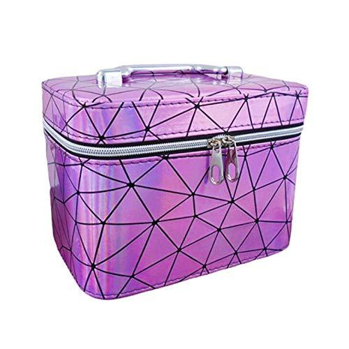 JLYLY Sac Cosmétique Femelle Portable De Grande Capacité Bagage À Main WC Stockage De Cas Cosmétique,Pink 2,L