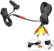 REARMASTER 12V/24V Cigarette Lighter Power Supply Kit for Car Rear View Camera and Monitor with RCA Connection