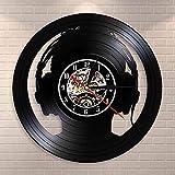 Reloj De Pared Audio Slave Headphones DJ Wall Clock Art Reloj De Pared Amantes De La Música Silueta Reloj De Vinilo para Aquellos Que No Pueden Vivir Sin Música 30X30Cm