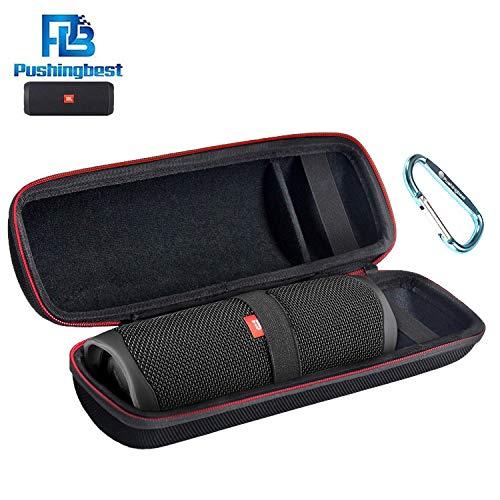 Tasche für JBL Flip 5 Tragbarer Bluetooth Lautsprecher wasserdichte Tasche Schutztasche, Passend für Ladegeräte und USB-Kabel (Schwarz)