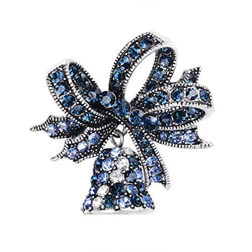 iTemer. 1 Pieza Lindo Broche con Forma de Campana de Navidad decoración navideña Broche Unisex Disfraz Mochila Bufanda Insignia Decorativa Azul 3.4 * 3.2cm