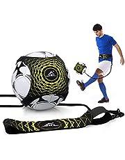Voetbaltraining kinderen voetbaltrainer Solo voetbalkick trainer, solo voetbaltraining met verstelbare tailleband voor kinderen, beginners en beginners