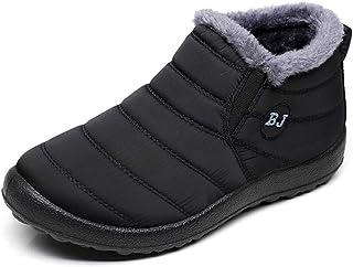 5b4a401d39e Zapatos Mujer Botas de Nieve Invierno Forro Calentar Tobillo Al Aire Libre  Zapatillas Altas Outdoor Antideslizante