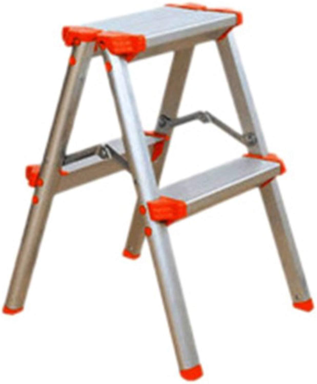 JJJJD Sgabello a gradini, Sgabello Pieghevole Pieghevole in tuttiuminio (Coloreee    1, Dimensioni   104cm)