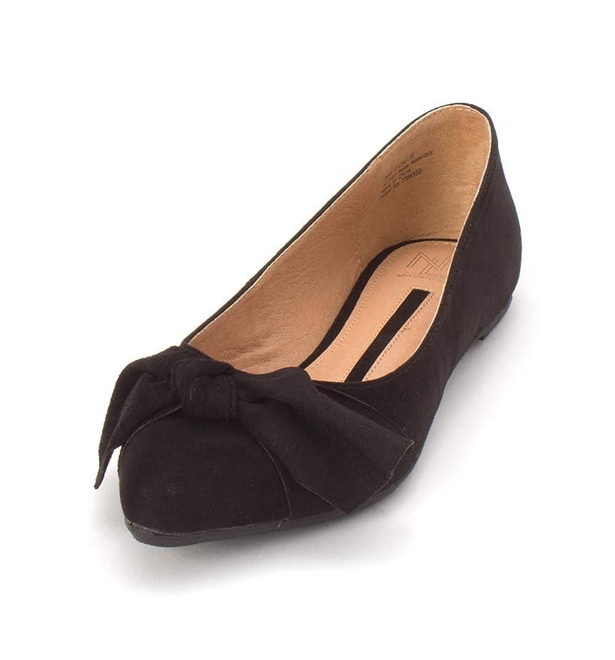 見るふさわしいステレオタイプ[New Directions] Womens Callie Suede Pointed Toe Ballet Flats [並行輸入品]